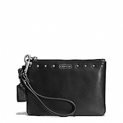 COACH F51256 Darcy Leather Studded Small Wristlet SILVER/BLACK