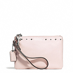 COACH F51256 Darcy Leather Studded Small Wristlet