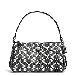 COACH F51262 - PEYTON DREAM C TOP HANDLE POUCH SILVER/BLACK/WHITE/BLACK