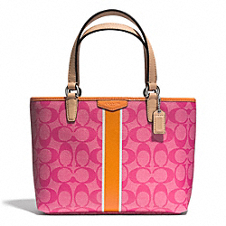 COACH F51267 - SIGNATURE STRIPE TOP HANDLE TOTE ONE-COLOR
