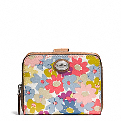 COACH F51272 Peyton Floral Medium Zip Around Wallet