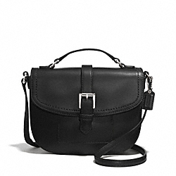 COACH F51286 Charlie Leather Anderson Crossbody  SILVER/BLACK