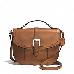 COACH F51286 - CHARLIE LEATHER ANDERSON CROSSBODY  SILVER/SADDLE
