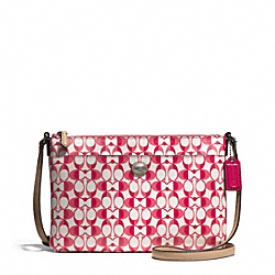 COACH F51364 - PEYTON EAST/WEST SWINGPACK IN DREAM C COATED CANVAS ONE-COLOR
