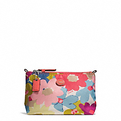 COACH F51376 - FLORAL PRINT MINI COSMETIC POUCH ONE-COLOR