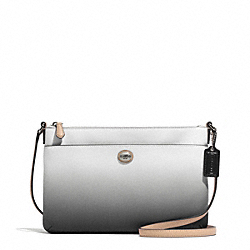 COACH F51381 - PEYTON OMBRE BRINN EAST/WEST SWINGPACK SILVER/CHARCOAL