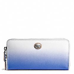 COACH F51382 Peyton Ombre Accordion Zip Wallet SILVER/PORCELAIN BLUE