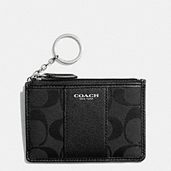 COACH F51411 Signature Mini Skinny SILVER/BLACK/BLACK