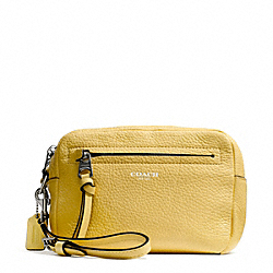 BLEECKER PEBBLED LEATHER FLIGHT WRISTLET - f51427 - SILVER/PALE LEMON