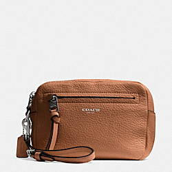 COACH F51427 Bleecker Flight Wristlet In Pebble Leather  SVCKK