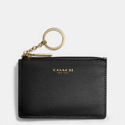 COACH F51452 Saffiano Leather Mini Skinny BRASS/BLACK