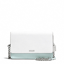 COACH F51571 Colorblock Mixed Leather Crosstown Bag SILVER/WHITE MULTICOLOR