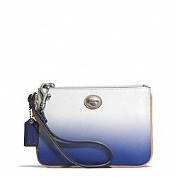 COACH F51595 Peyton Ombre Small Wristlet SILVER/PORCELAIN BLUE