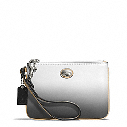 COACH F51595 Peyton Ombre Small Wristlet SILVER/CHARCOAL