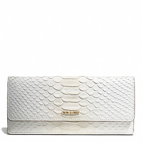 3d34a910abbf COACH F51617 - MADISON PINNACLE PYTHON-EMBOSSED SOFT WALLET - LIGHT ...