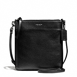 COACH F51629 - BLEECKER PEBBLE LEATHER NORTH/SOUTH SWINGPACK SILVER/BLACK