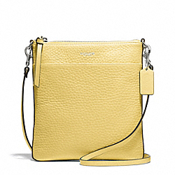 COACH F51629 - BLEECKER PEBBLED LEATHER NORTH/SOUTH SWINGPACK SILVER/PALE LEMON