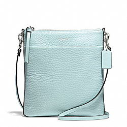 COACH F51629 - BLEECKER PEBBLED LEATHER NORTH/SOUTH SWINGPACK SILVER/SEA MIST