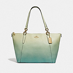 AVA TOTE WITH OMBRE - F51654 - GREEN MULTI/IMITATION GOLD