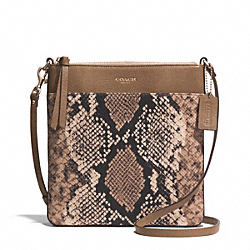 MADISON PYTHON PRINTED NORTH/SOUTH SWINGPACK - f51660 - LIGHT GOLD/NATURAL
