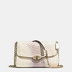 MADISON PINNACLE CHAIN CROSSBODY IN PYTHON EMBOSSED LEATHER - f51662 -  LIGHT GOLD/NEUTRAL PINK
