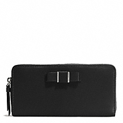 DARCY BOW ACCORDION ZIP WALLET - f51668 - SILVER/BLACK
