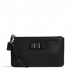 COACH F51669 Darcy Bow Large Wristlet SILVER/BLACK