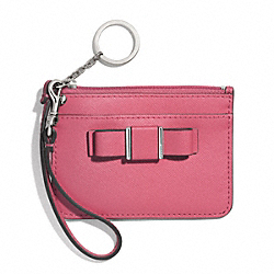 COACH DARCY BOW ID SKINNY - SILVER/STRAWBERRY - F51670