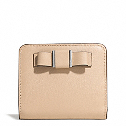 COACH DARCY BOW SMALL WALLET - SILVER/SAND - F51671