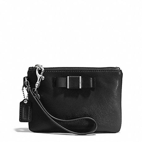 COACH f51672 DARCY BOW SMALL WRISTLET SILVER/BLACK
