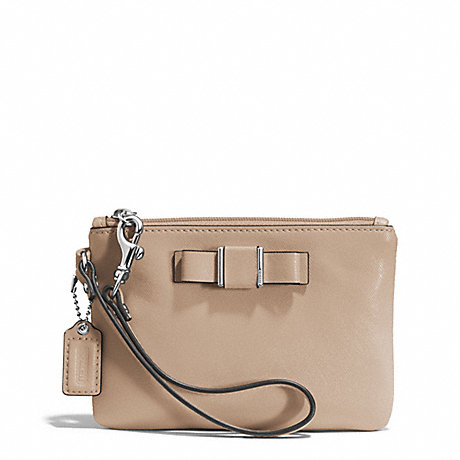COACH f51672 DARCY BOW SMALL WRISTLET SILVER/SAND