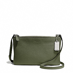 COACH F51682 - PARK LEATHER LYLA DOUBLE GUSSET CROSSBODY SILVER/OLIVE