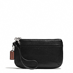 COACH F51683 Park Leather Medium Wristlet  SILVER/BLACK