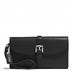 COACH F51688 Charlie Leather Callie Hybrid Wallet  SILVER/BLACK