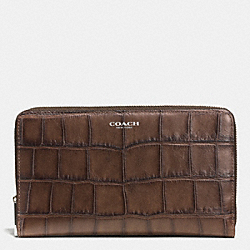 COACH F51703 Bleecker Continental Zip Wallet In Pinnacle Matte Croc Leather  UE/DB