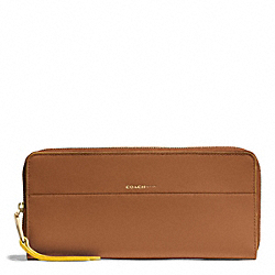EDGEPAINT SLIM CONTINENTAL ZIP WALLET - f51716 - GOLD/WALNUT/SUNGLOW