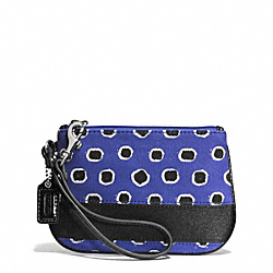 COACH F51719 Mini Dot Stripe Small Wristlet