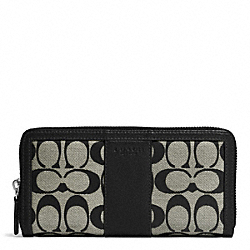 PARK SIGNATURE ACCORDION ZIP WALLET - f51770 - SILVER/BLACK/WHITE/BLACK