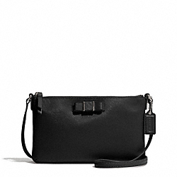 COACH F51858 Darcy Bow East/west Swingpack SILVER/BLACK