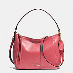 COACH F51900 - MADISON TOP HANDLE IN LEATHER  LIGHT GOLD/LOGANBERRY