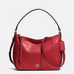 COACH F51900 - MADISON TOP HANDLE IN LEATHER  LIGHT GOLD/RED CURRANT