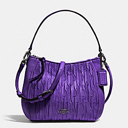 COACH F51908 - MADISON TOP HANDLE BAG IN GATHERED LEATHER  QB/PURPLE IRIS