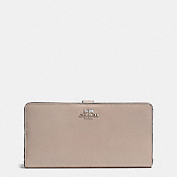 COACH F51936 Skinny Wallet In Refined Calf Leather SILVER/GREY BIRCH