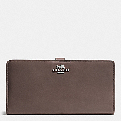COACH F51936 Skinny Wallet In Leather  SILVER/MINK