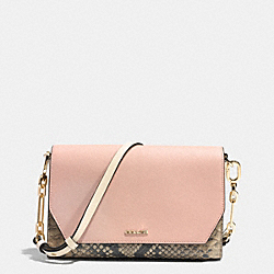 COACH F51944 - CROSSTOWN CROSSBODY IN SAFFIANO COLORBLOCK MIXED MATERIALS  LIGHT GOLD/ROSE PETAL