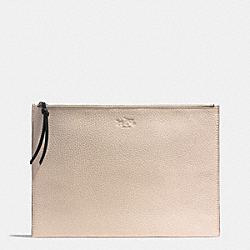 BLEECKER DOUBLE ZIP CLUTCH IN COLORBLOCK LEATHER - f51950 -  AKD70