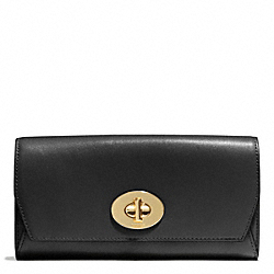 COACH F51968 Madison Slim Envelope Wallet In Leather  LIGHT GOLD/BLACK