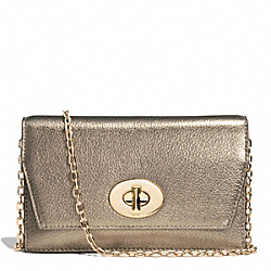 COACH F51979 - BLEECKER METALLIC LEATHER CLUTCH WALLET GOLD/GOLD
