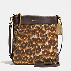 COACH F52104 - MADISON OCELOT PRINT FABRIC NORTH/SOUTH SWINGPACK  LIGHT GOLD/MULTICOLOR