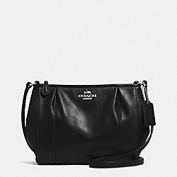 COLETTE LEATHER SWINGPACK - f52177 - SILVER/BLACK